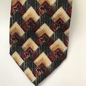Robert Talbott Studio hand sewn print silk tie
